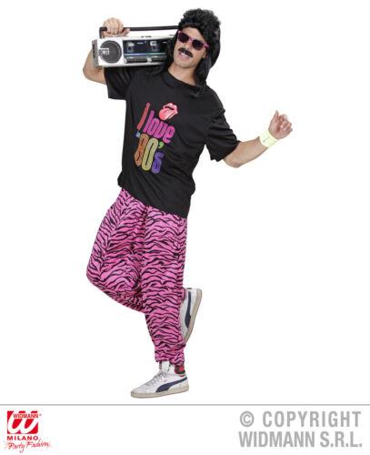 Anni 80 90 Anni Pantaloni da Corsa Pantaloni L//XL 9885 T-Shirt Rosa M//L