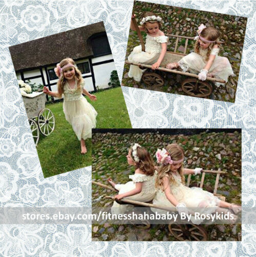 Flower Girl Dress Lace Flower girl dress Rustic Country Flower Girl Bridesmaid