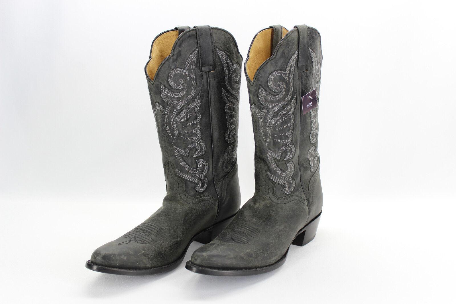J B Dillon JBW2309 Negro de Cuero Cuero Cuero Genuino cabra Envejecido rojoondo-Toe botas Talla 10  echa un vistazo a los más baratos
