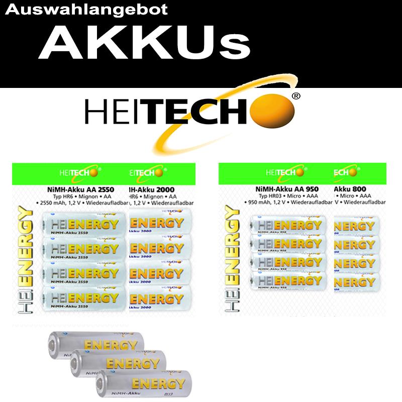 HEITECH AKKU AA R6 Mignon AAA Micro