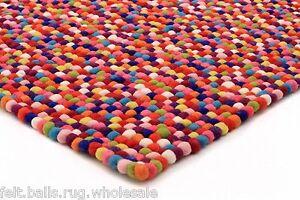 9a248b578f Detalles de Tamaño 5 Pies X 3 pies rectangular de fieltro Bola Alfombras  pecosa Niños Pom Pom Vivero Rugs- ver título original