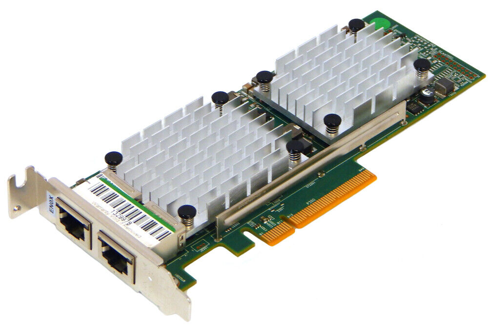 IBM 2-Port 10GbE BaseT RJ45 EN0X PCIe2 Adapter 00E2714 00E2718 Low Profile Brack
