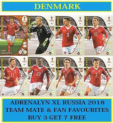 8c750214fabe8 Panini Adrenalyn XL FIFA World Cup 2018 Russia - Choose your DENMARK Team  Cards | eBay