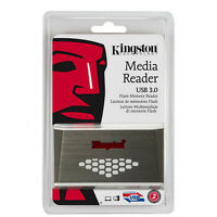 Kingston Fcr-hs4 Usb 3.0 Media Card Reader 32gb 64gb 128gb Cf Microsd Sdxc Sd