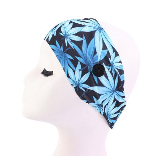 Women With Button Hair Band Boho Headband Headband Buckle All-match