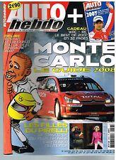 A27- Auto Hebdo N°1628 Guide rallye Monte Carlo,Filles du calendrier Pirelli