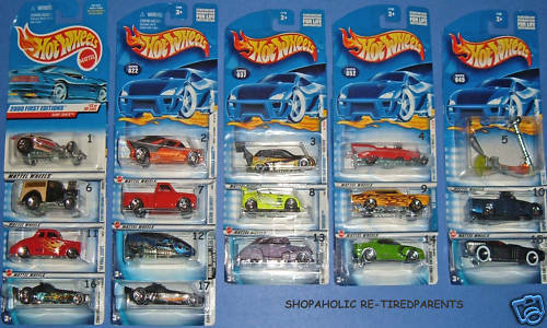 HOT WHEELS    - 17 COLLECTIBLE VEHICLES - ALL 1st EDITIONS - MINT CONDITION - NIP a1b521