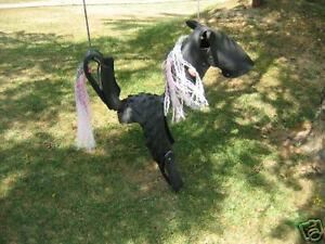 """Roping Pony"" Horse Tire Swing"