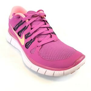 Details about Nike Womens Running Shoes Free 5.0 Purple Pink Size 7 580591 660 Athletic