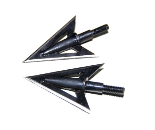 Black Broadheads 100Grain Screw-In Hunting Arrow Heads Target Points for Archery