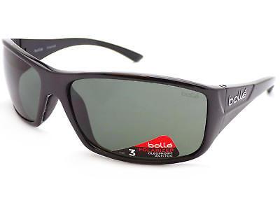 RECOIL Wrap Sunglasses Shiny Black// TNS Lenses 10406 BOLLE