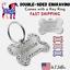 Rhinestone Bone Sparkle Pet Tag Dog Tags Charm Key chain  Engrave Personalized