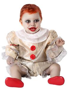 Baby Bambino Ragazzi Ragazze Vintage CLOWN HORROR cattiva Halloween Costume