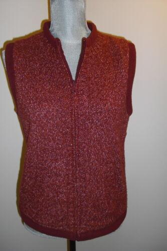 Christopher & Banks Sweater Vest Deep Red Maroon R