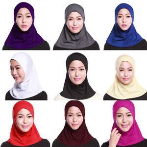 Muslim-Womens-Hijab-Amira-Scarf-Headscarf-Wrap-One-Piece-Shawl-Islamic-Headwear