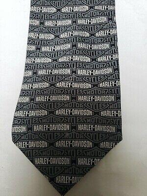 "Harley-Davidson Ralph Marlin 100/% silk tie Men/'s Black /&Orange /""Road Stripes/""NEW"
