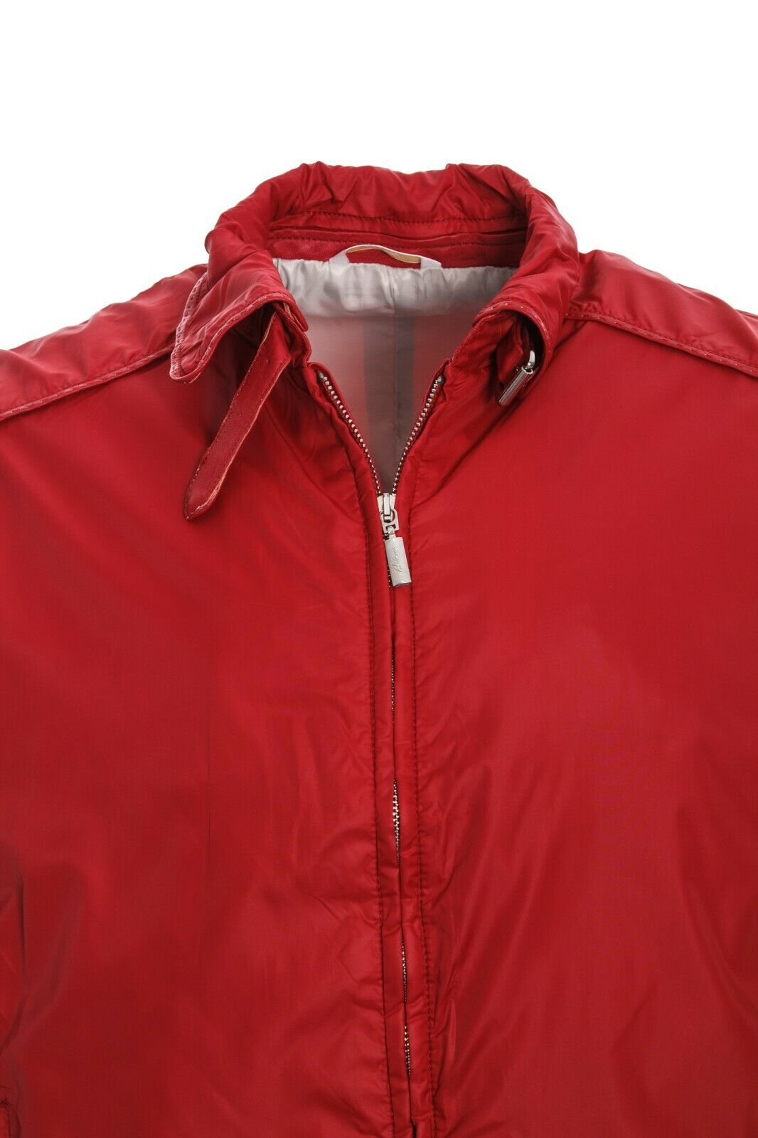 5450$ MENS BRIONI BLOUSON RED SILK LINING LEATHER… - image 2