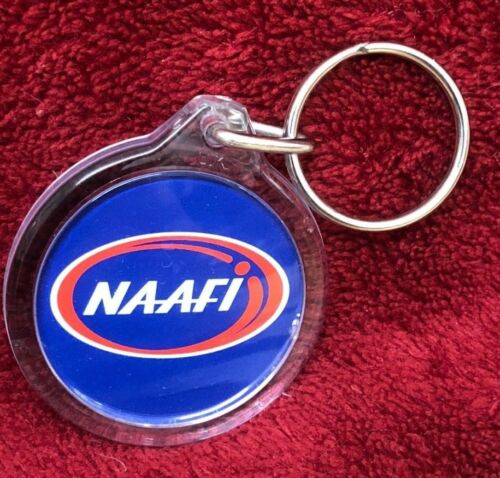 UK Naafi Navy Army Air Force Institute Keyring Plastic 4.5cm Key Ring