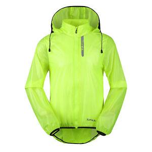 Men's Bike Light Wind Coat Bicycle Waterproof Long Sleeve Cycling Jacket XL-3XL