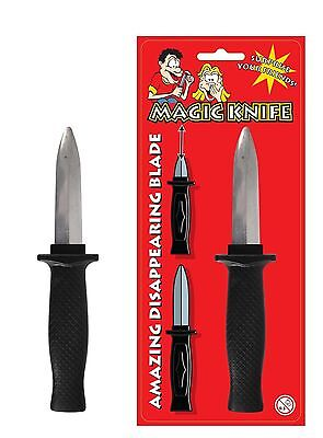 Cerca Voli Retrattile Magic Coltello Diapositiva Dagger Scherzo Trucco Scomparendo In Fancy Dress Toy-mostra Il Titolo Originale Alta Qualità E Poco Costoso
