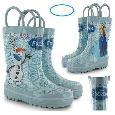 Disney Frozen Toddler Girls Wellies Wellingtons Boots Olaf Anna Elsa Sz7-Older 2