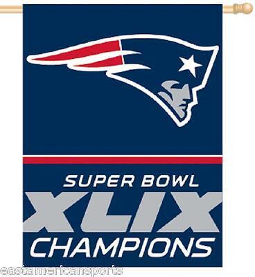New England Patriots NFL 27 x 37 Super Bowl 49 Champions Vertical Flag Banner