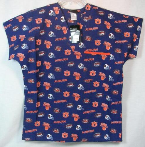 Auburn University Tigers Scrub Top Nurse Uniform Shirt Doctor Team Medical RN
