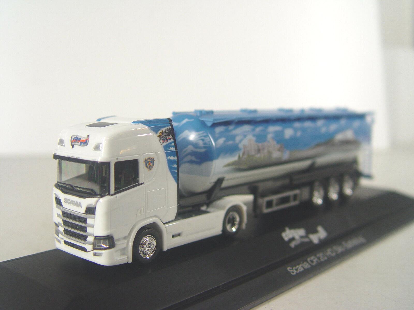 SCANIA CR Silosattelzug a fait Grand Transporteur-Camion Herpa 1 87 - 121880  e