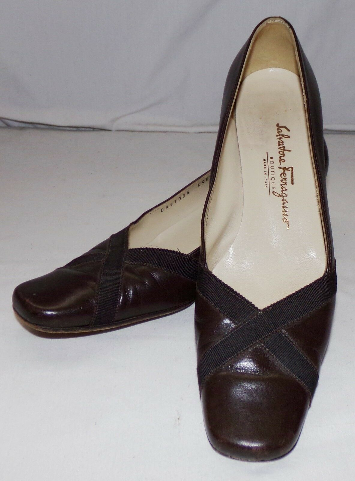 Salvatore Ferragamo Boutique Pumps Heels Womens 7 1/2 B Brown