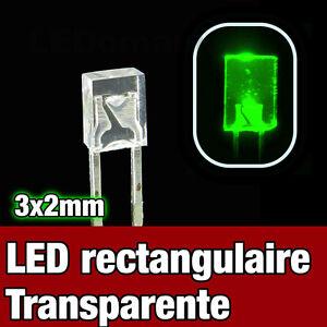Orange Rectangular LED 325O//100# LED Rectangulaire 3x2 mm  Orange  100pcs