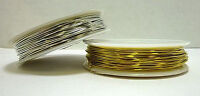 Beading Craft Wire You Choose Gold Silver .80 Mm X 10 M Spool 20 Gauge Free Ship