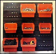 Wandregal Kleinteile Regal Lagersichtboxen Stapelboxen  Paneel Sichtlagerkästen