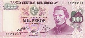 URUGUAY South America 1000 Pesos UNC 1974 p-52