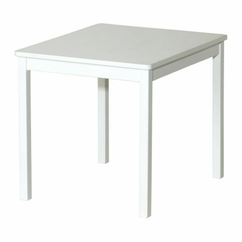 buy popular 0f3a9 893e8 SMALL DIMENSIONS IKEA KRITTER Children's table, white 59x50 cm