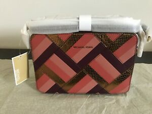 292ba90eb1e9 Image is loading NWT-Michael-Kors-Marquertry-Patchwork-JSTRVL-Large-EW-