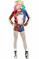 9648 Fashion Movie Suicide Squad Harley Quinn Costume Halloween Cosplay Glove