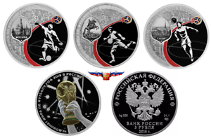 2016 World Cup 2018 football host cities colored 12 coins x 1 Rbl album Russia