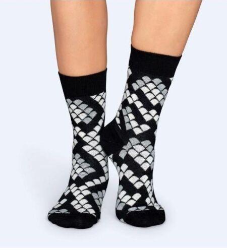 schwarz // weiß // grau Happy Socks 41-46 36-40 Snake Socks Socken