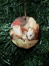 Scandinavian Swedish Christmas Ceramic Ornament Bergerlind Tomte Horse Cat JB530