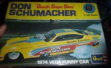 REVELL NHRA DON SCHUMACHER 1974 VEGA FUNNY CAR 1/25 MODEL CAR MOUNTAIN FS