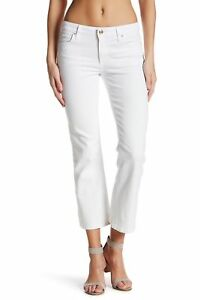 Sz 144158 Cropped 24 Olivia Joe's Bianco Donna Jeans Svasato Colore OnB88pWg