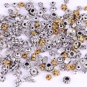 50g-About-90pcs-Mixed-Tibet-Silver-Beads-Flower-Caps-Spacer-For-Jewelry-DIY