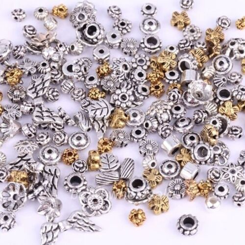 50g Mixed Tibet Silver Beads Flower Caps Spacer For Jewelry DIY About 90pcs