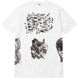 a0ae1e9fde77 DS New Supreme Escher Black White Tee T-shirt SS17 rare box logo ...