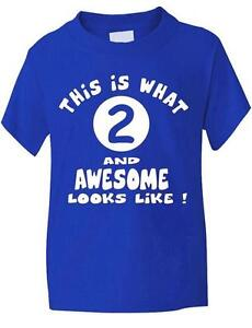 2-Second-cumpleanos-T-Shirt-bebe-Infantil-Nina-Nino-En-6-Colores-Nuevo
