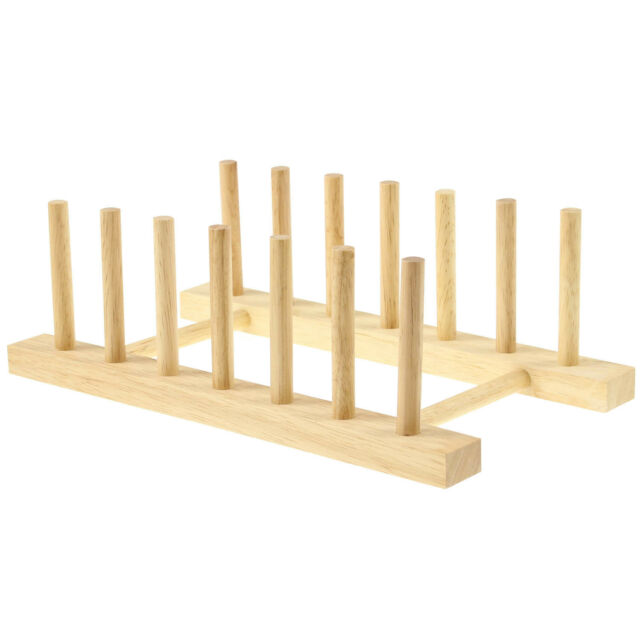From Apollo Wooden Plate Rack 26cm Long