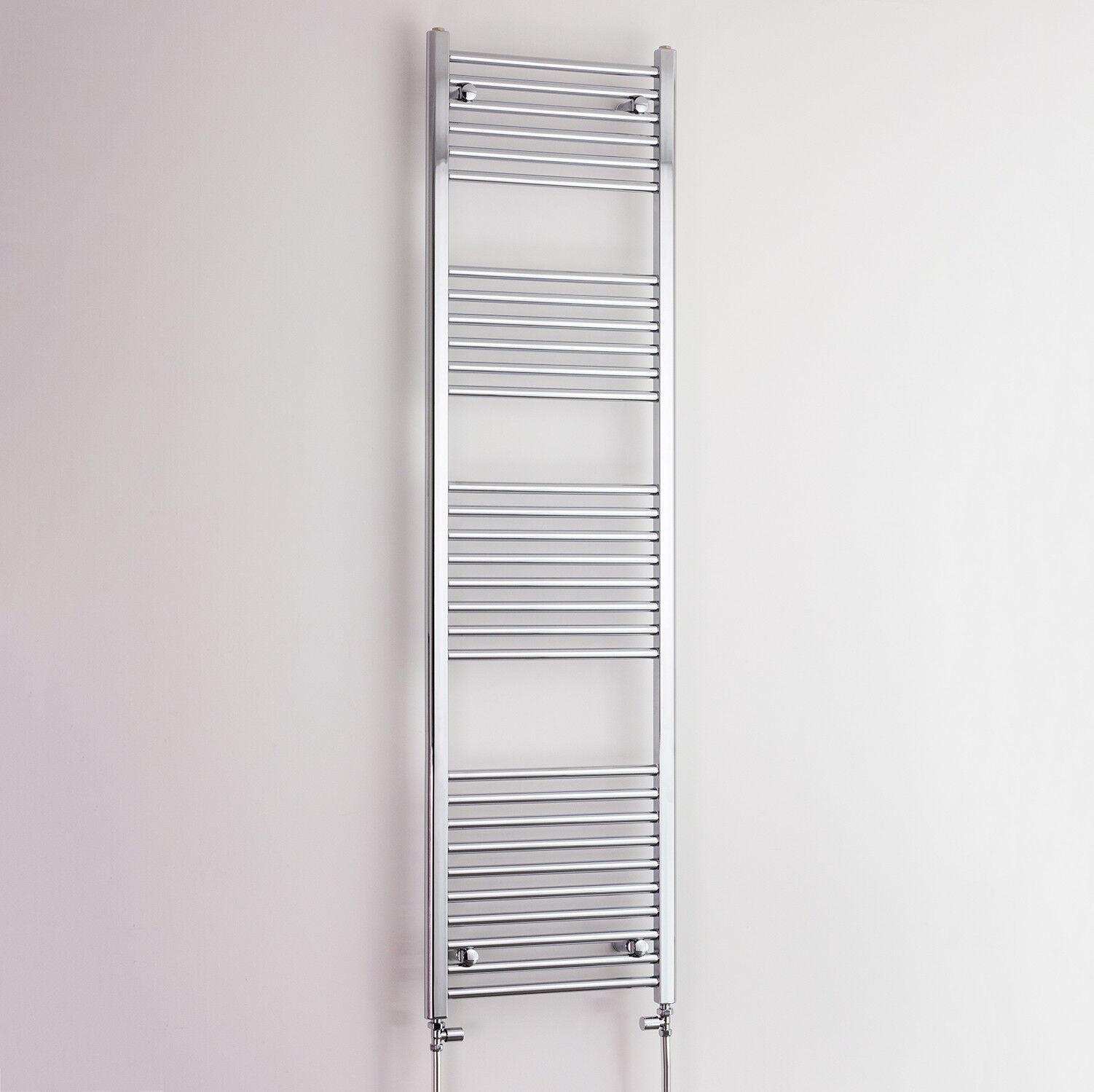 500 x 1800 Chrome Sèche-serviettes plat ou Incurvé Radiateur pour chauffage central