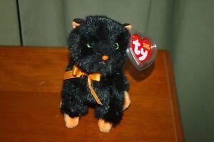 JINXY the Black CAT - Halloween  - TY Beanie Baby -  MWMT - Fast Shipping
