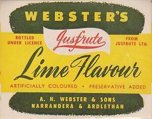 1950-60 AU Webster's jus-squash grapefruitJuice LOA25