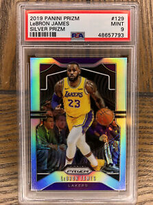 2019-Panini-Silver-Prizm-129-LeBron-James-Lakers-PSA-9-MINT